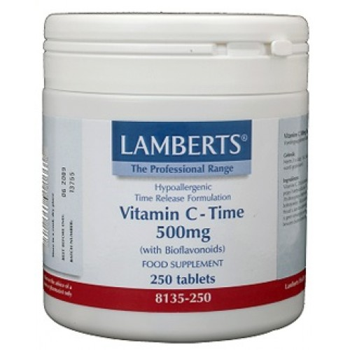 Vitamine C 500mg Time Release & Bioflavonoiden 250t